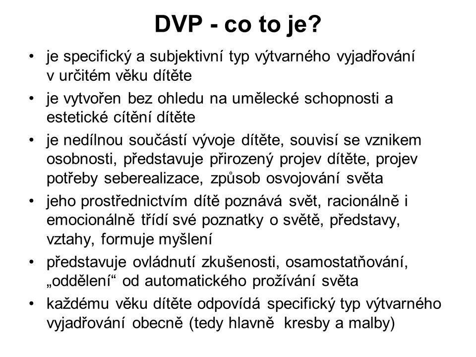 DVP - co to je je specifický a subjektivní typ výtvarného vyjadřování v určitém věku dítěte.