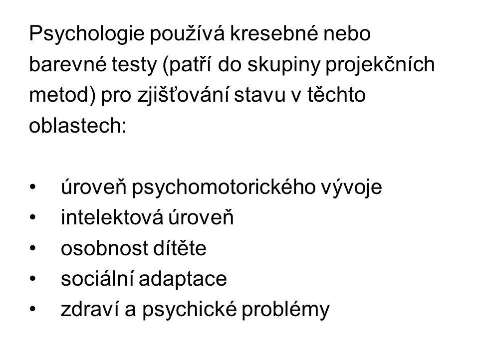 Psychologie používá kresebné nebo