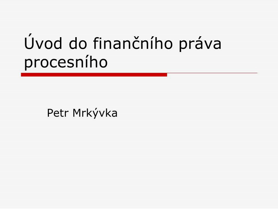 Úvod do finančního práva procesního