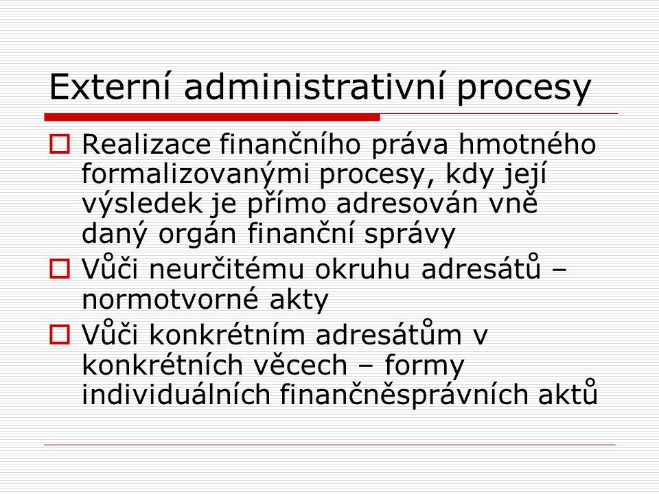 Externí administrativní procesy
