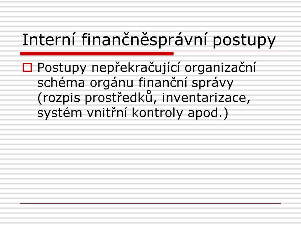 Interní finančněsprávní postupy