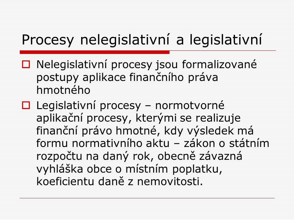 Procesy nelegislativní a legislativní
