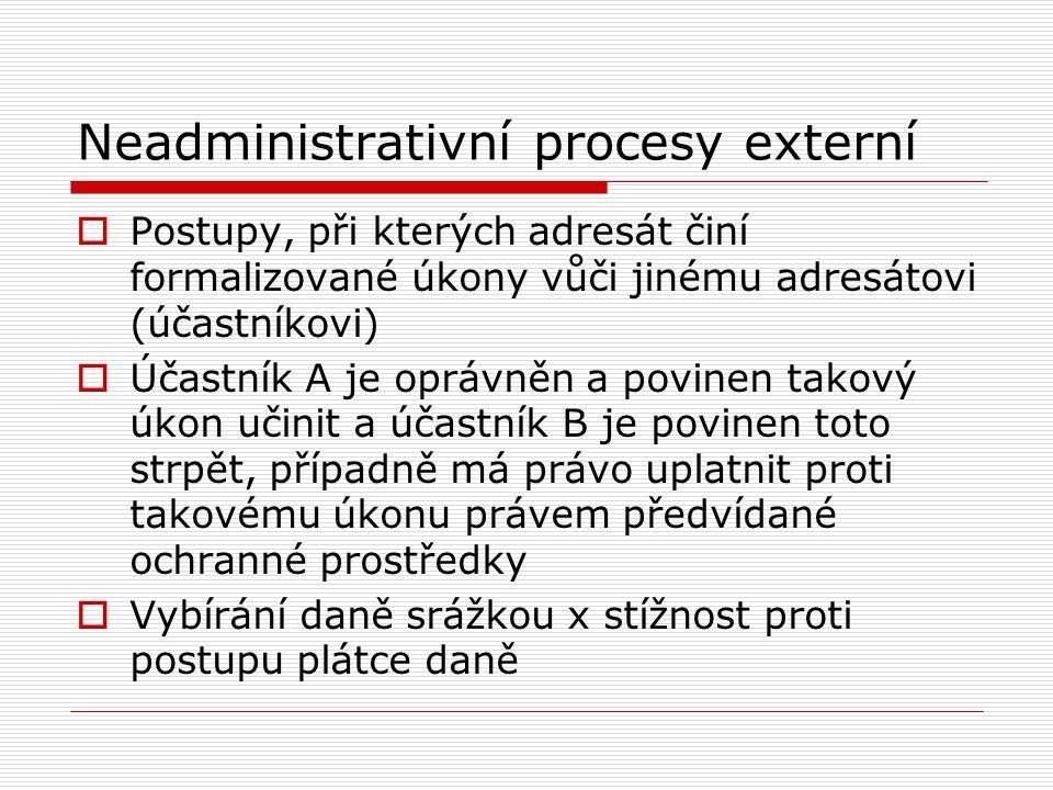Neadministrativní procesy externí