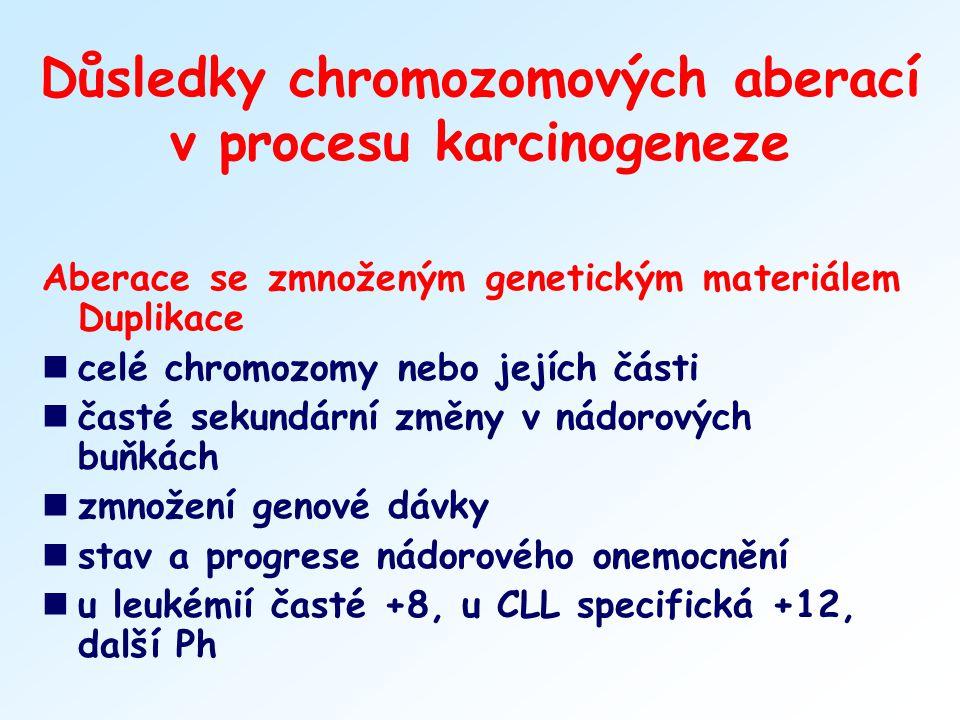 Důsledky chromozomových aberací v procesu karcinogeneze