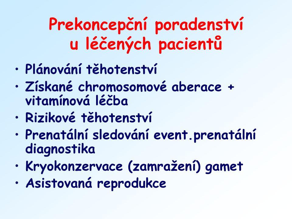Prekoncepční poradenství u léčených pacientů