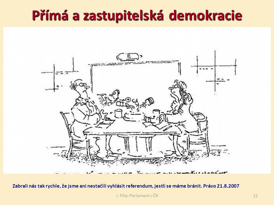 Přímá a zastupitelská demokracie