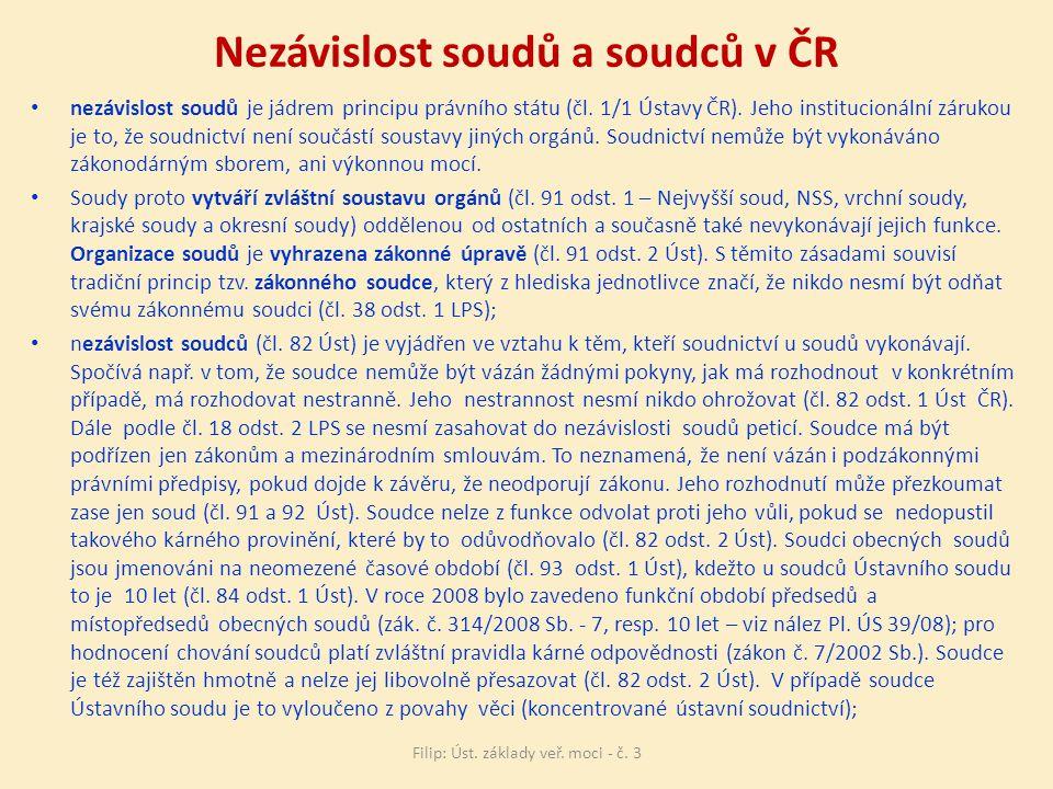 Nezávislost soudů a soudců v ČR