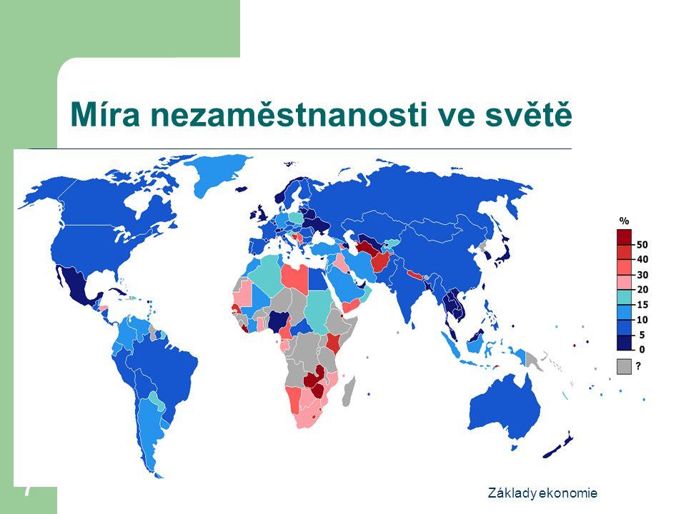 Míra nezaměstnanosti ve světě