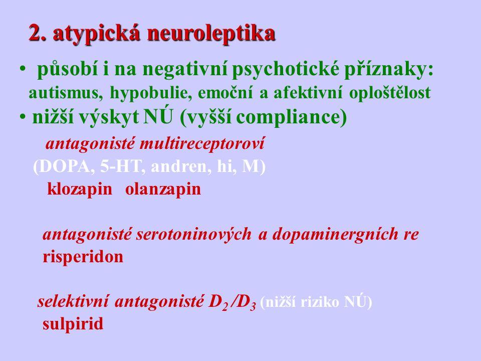2. atypická neuroleptika