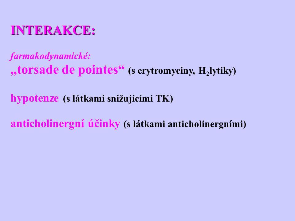 """torsade de pointes (s erytromyciny, H2lytiky)"
