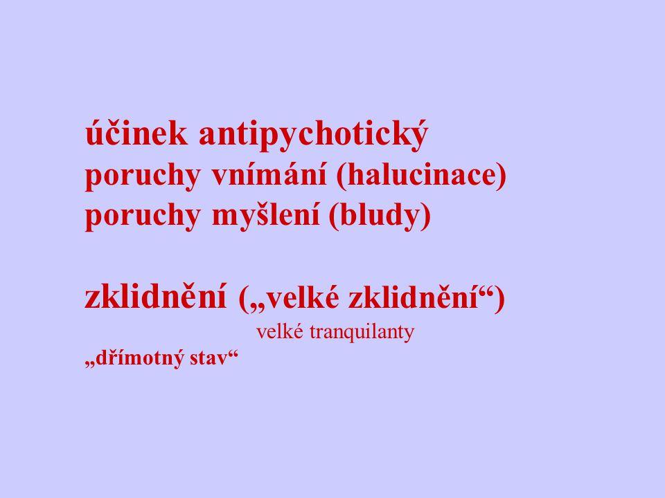 účinek antipychotický