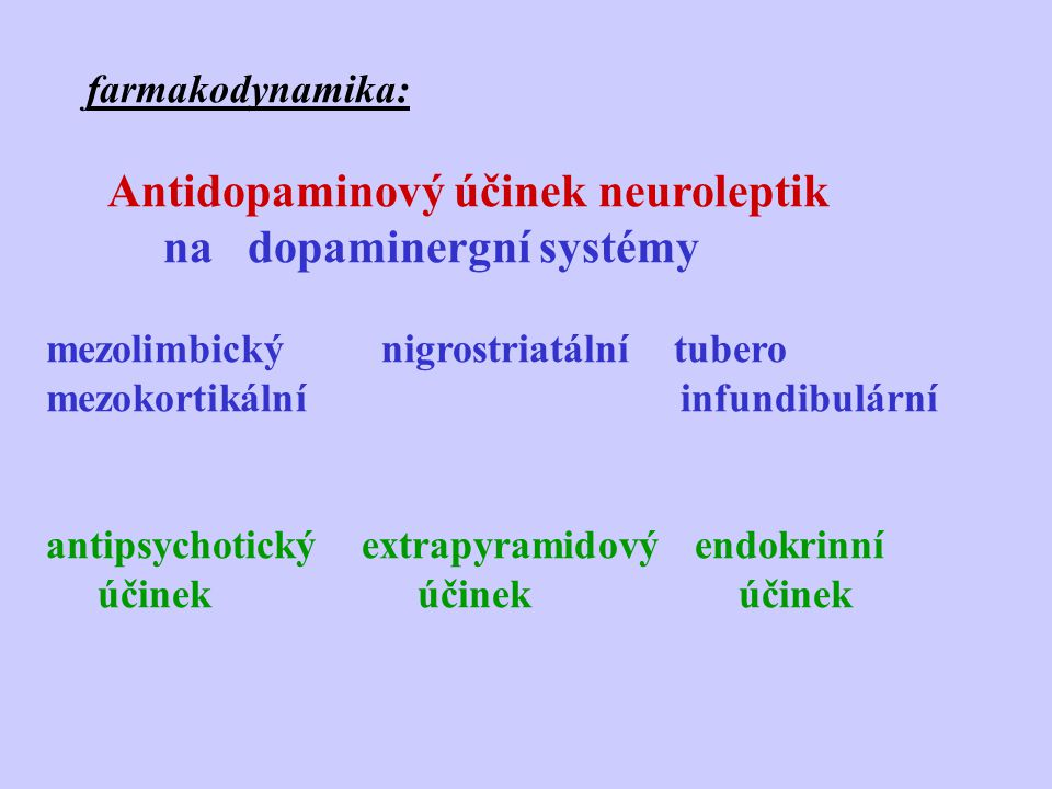 na dopaminergní systémy