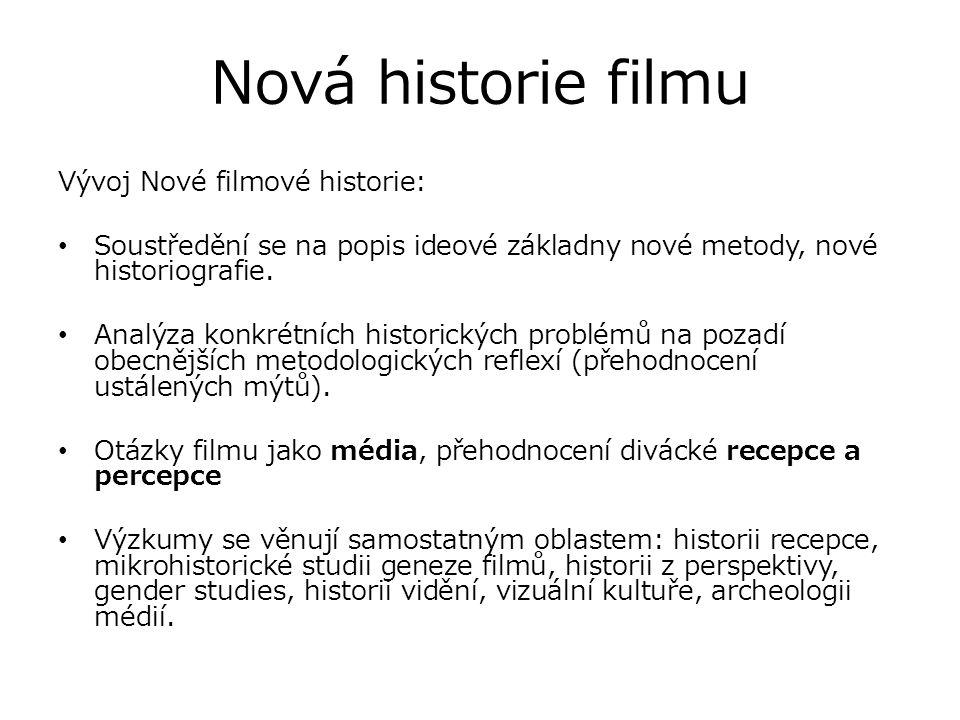 Nová historie filmu Vývoj Nové filmové historie: