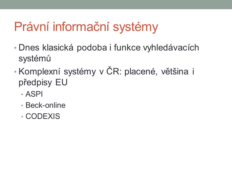 Právní informační systémy