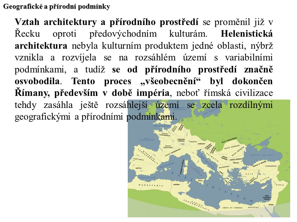 Geografické a přírodní podmínky