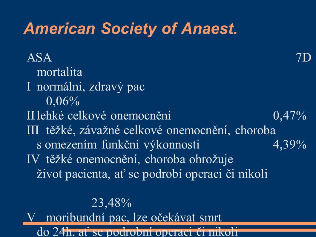 American Society of Anaest.