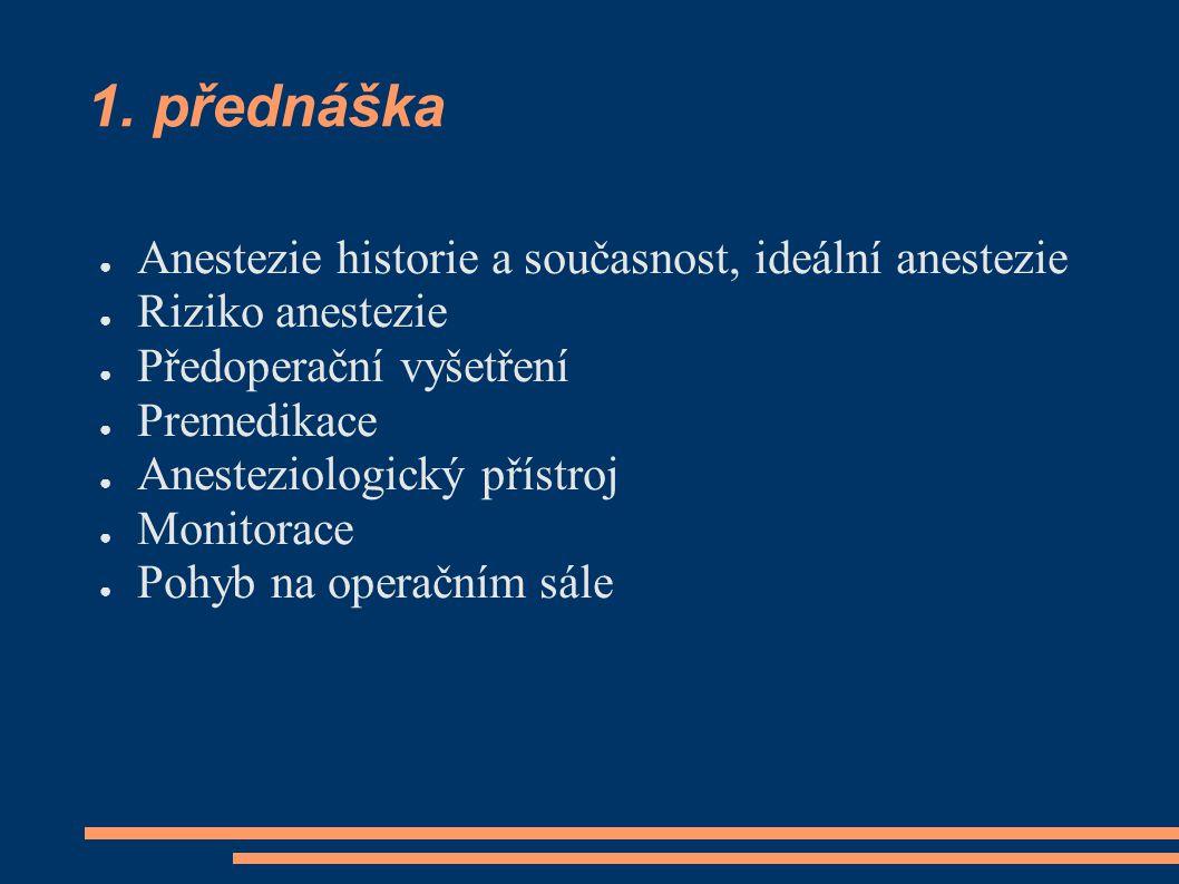 1. přednáška Anestezie historie a současnost, ideální anestezie
