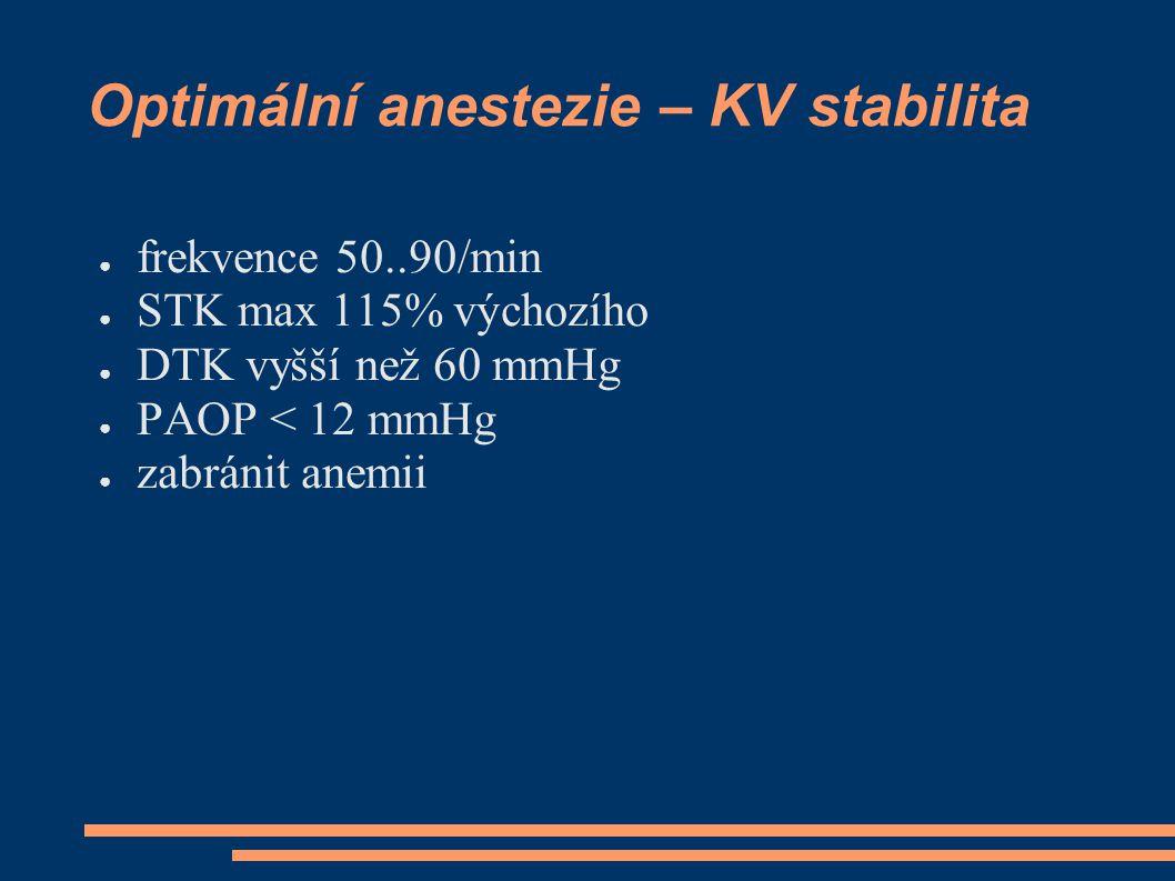Optimální anestezie – KV stabilita