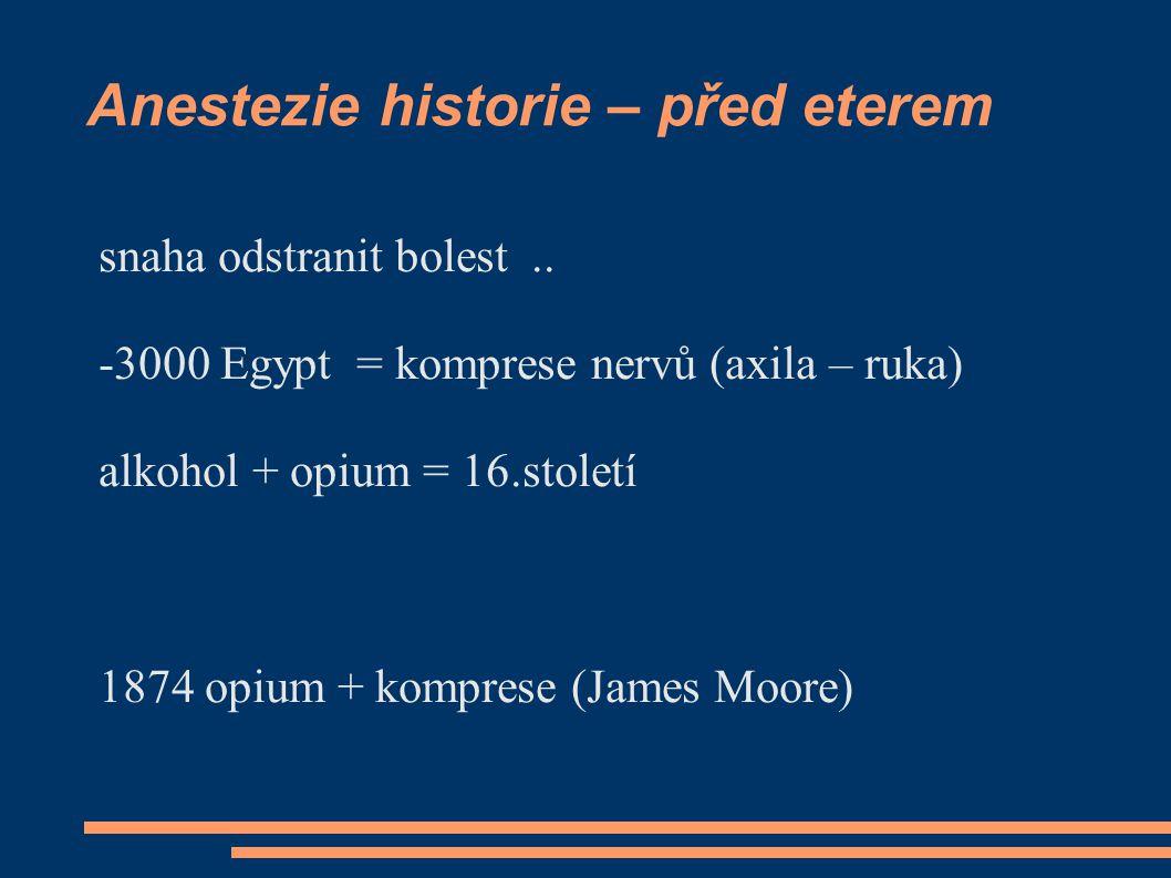 Anestezie historie – před eterem