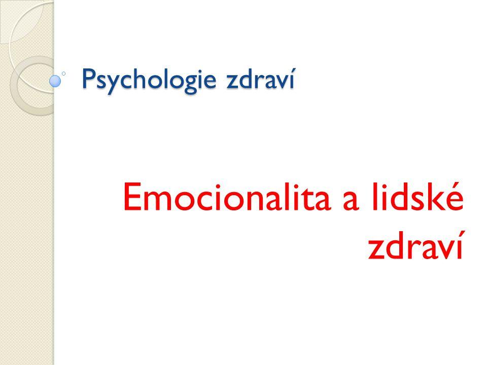 Emocionalita a lidské zdraví