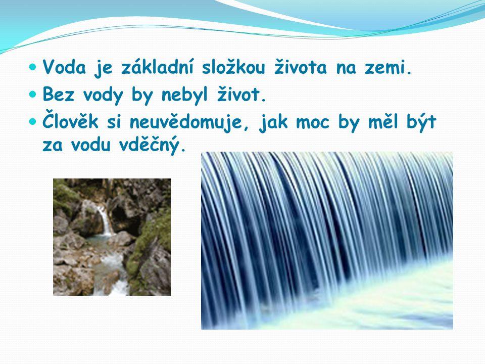 Voda je základní složkou života na zemi.