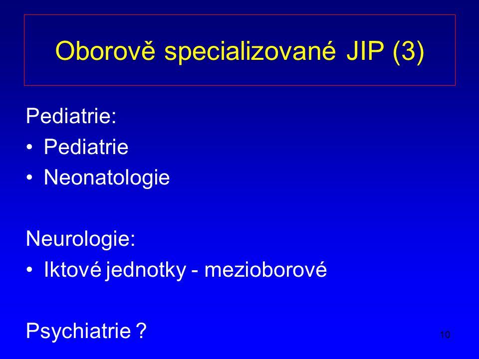 Oborově specializované JIP (3)