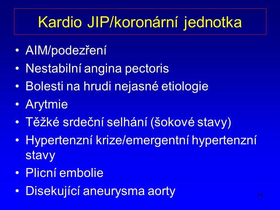 Kardio JIP/koronární jednotka