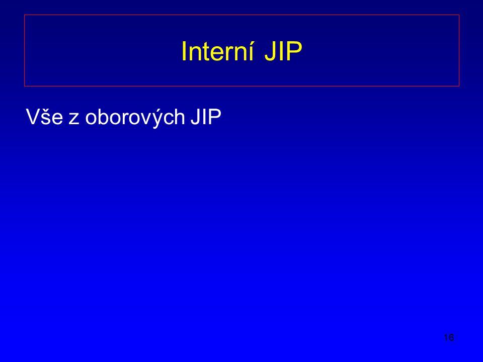Interní JIP Vše z oborových JIP