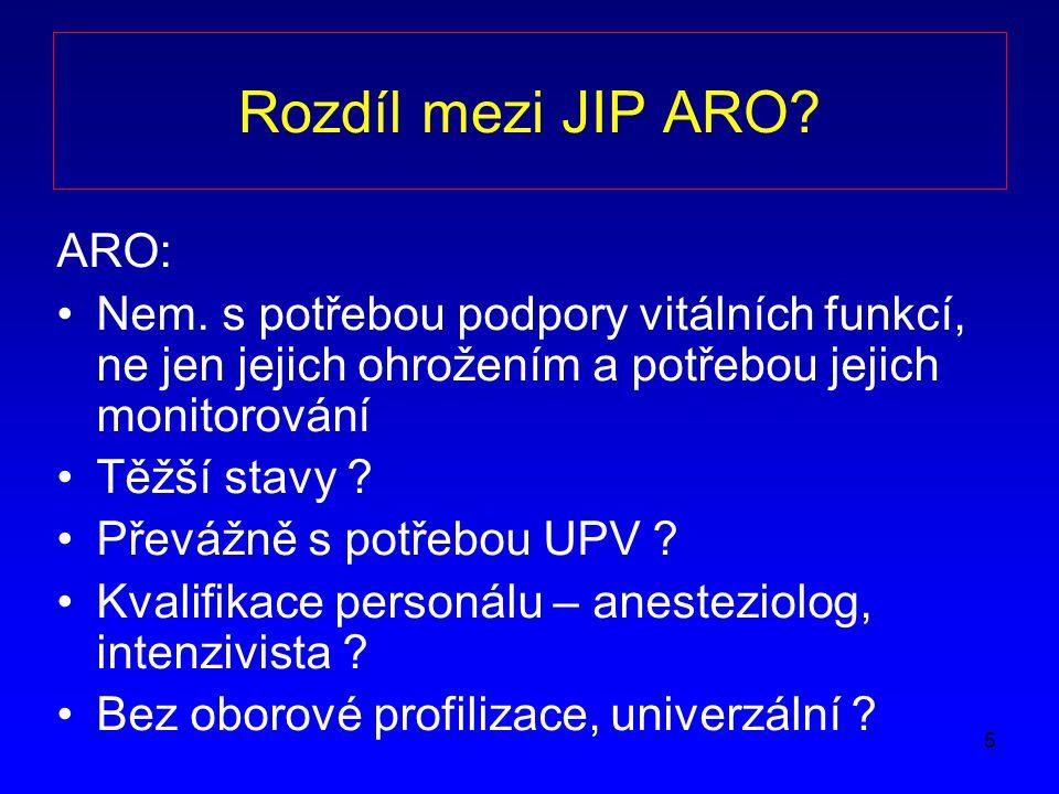 Rozdíl mezi JIP ARO ARO:
