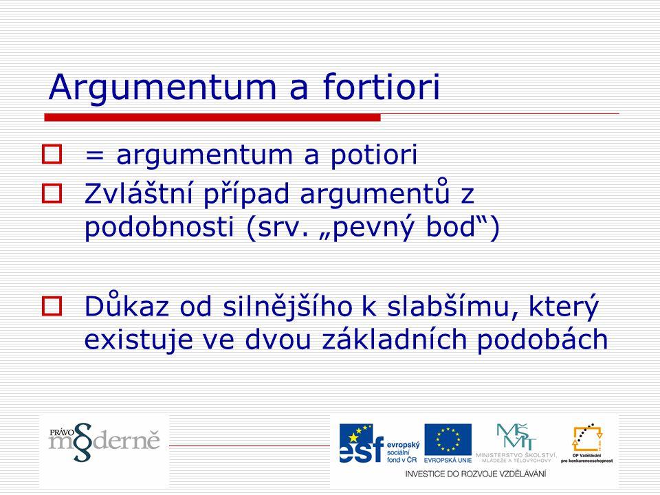 Argumentum a fortiori = argumentum a potiori