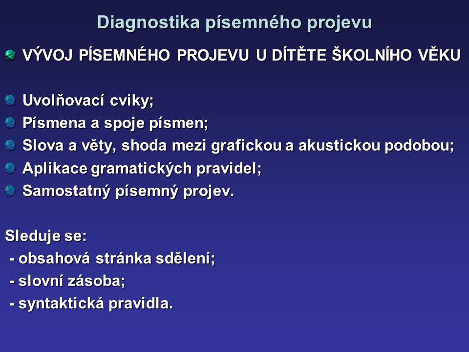 Diagnostika písemného projevu