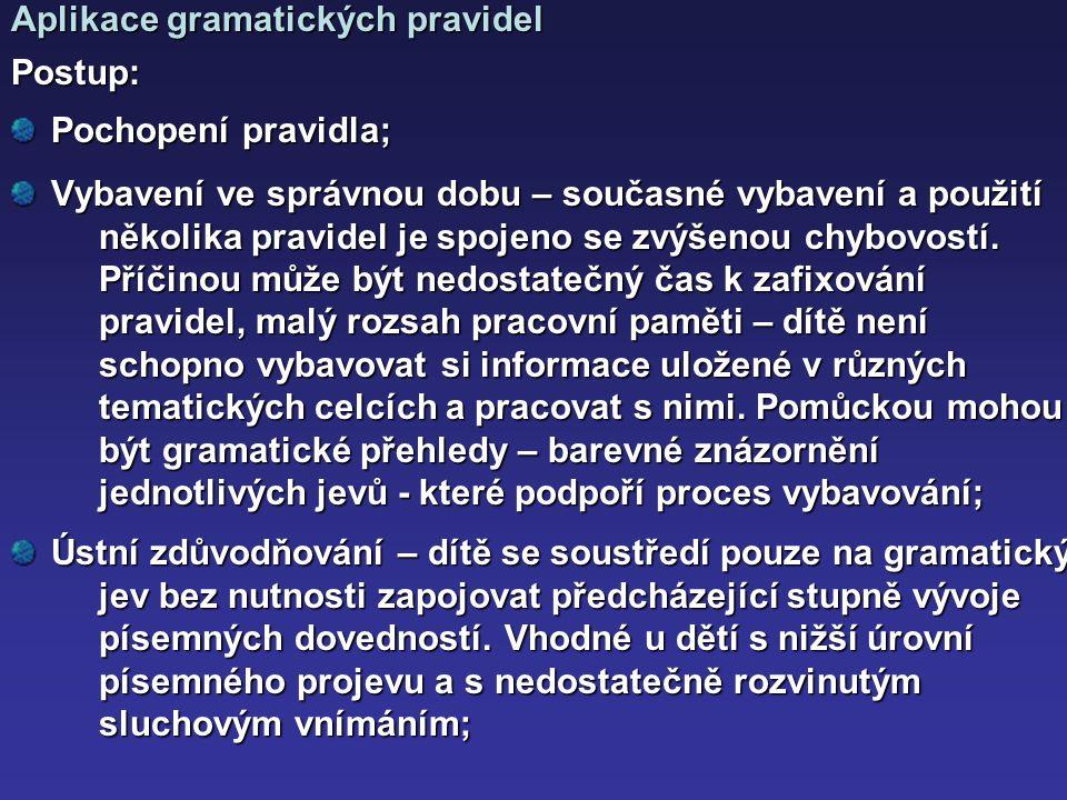 Aplikace gramatických pravidel