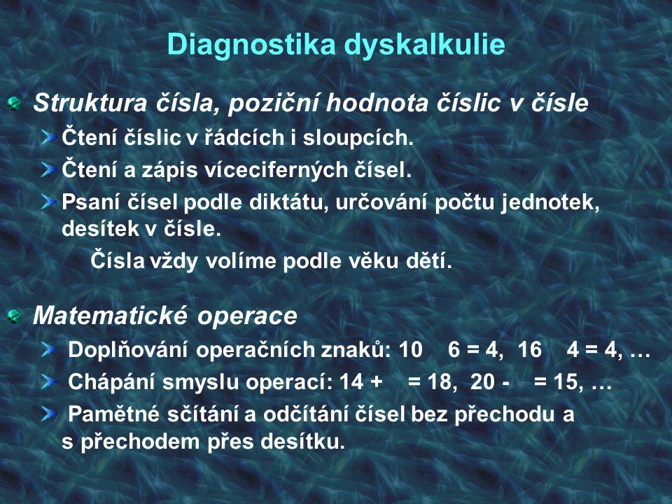 Diagnostika dyskalkulie