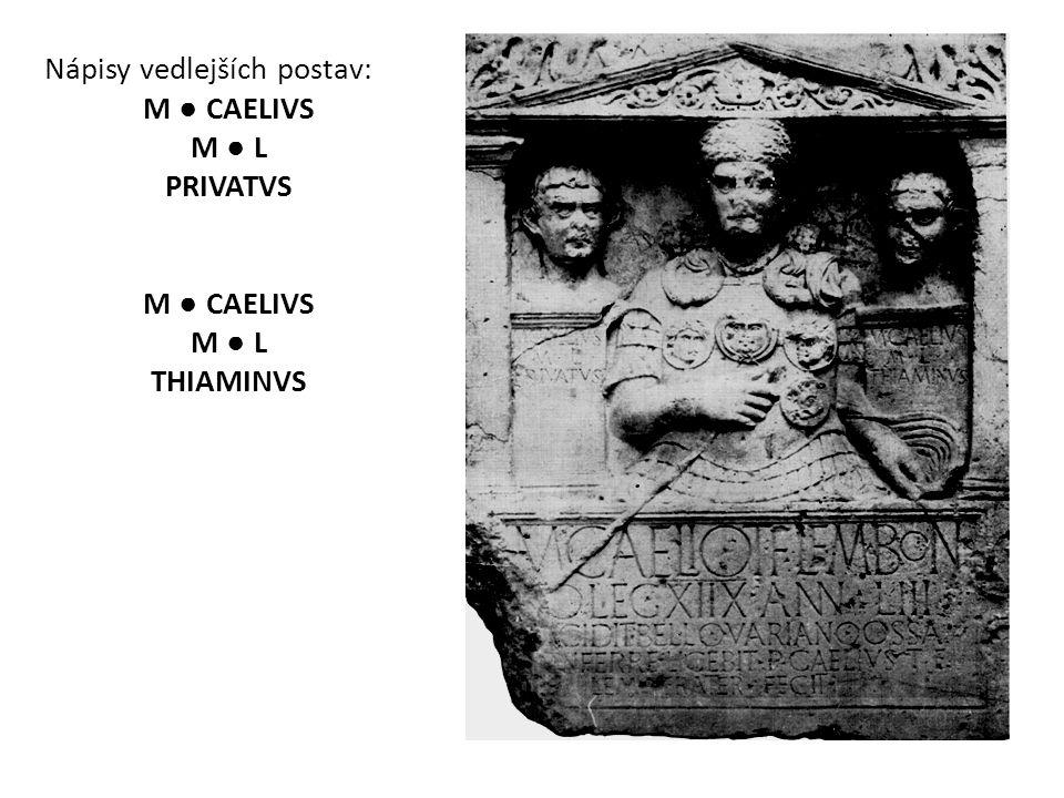 Nápisy vedlejších postav:
