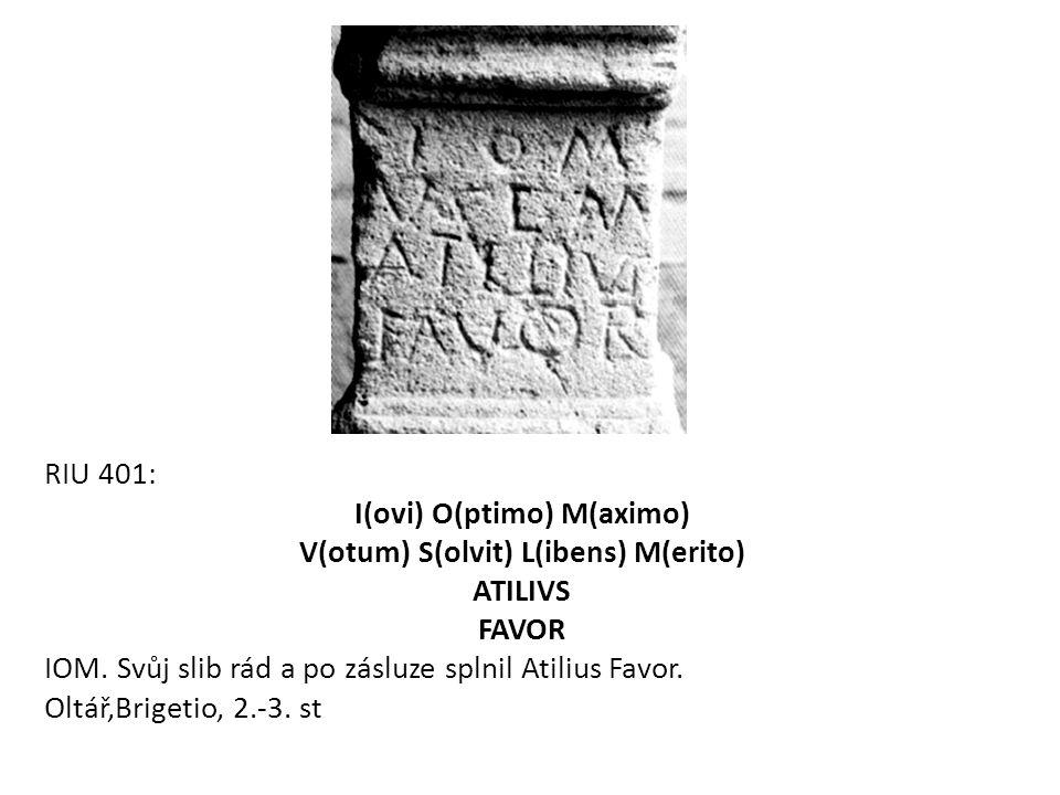 I(ovi) O(ptimo) M(aximo) V(otum) S(olvit) L(ibens) M(erito) ATILIVS