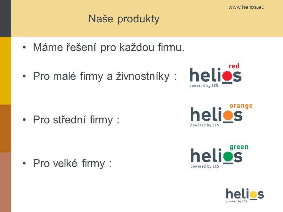Naše produkty Máme řešení pro každou firmu.