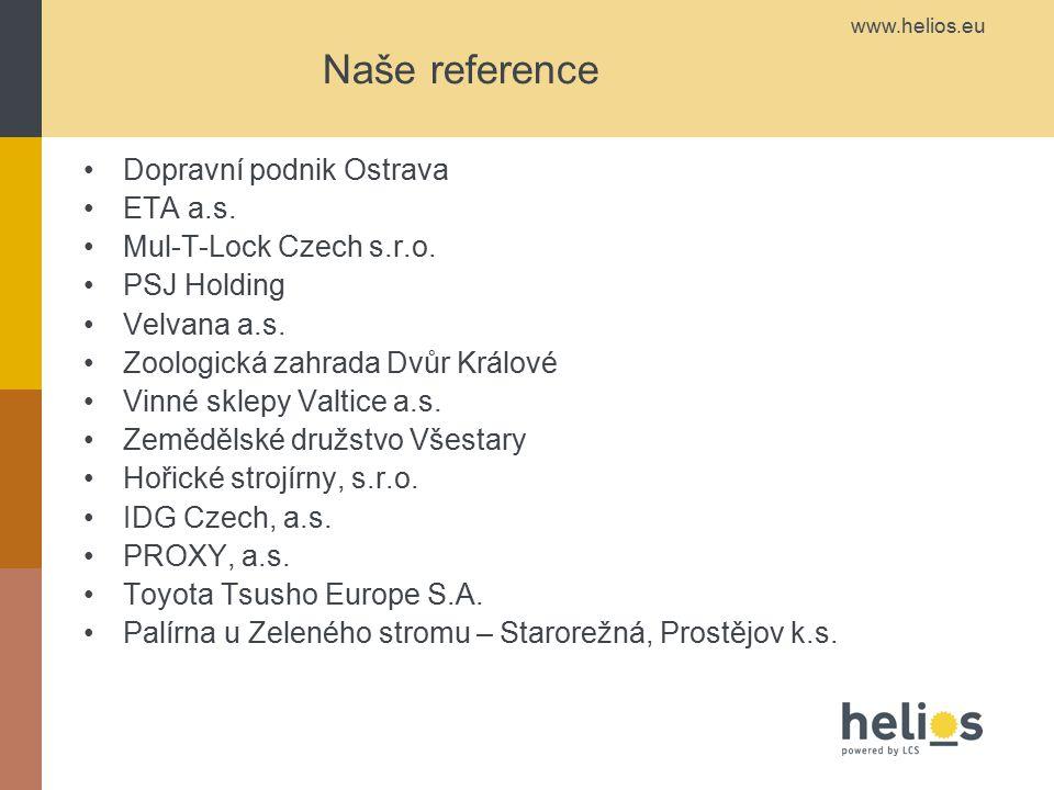 Naše reference Dopravní podnik Ostrava ETA a.s.