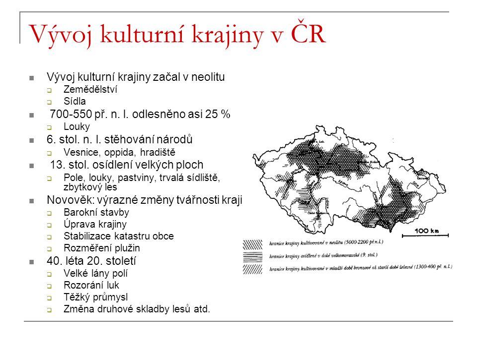 Vývoj kulturní krajiny v ČR