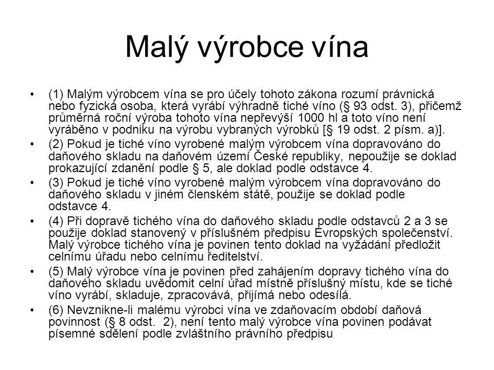 Malý výrobce vína