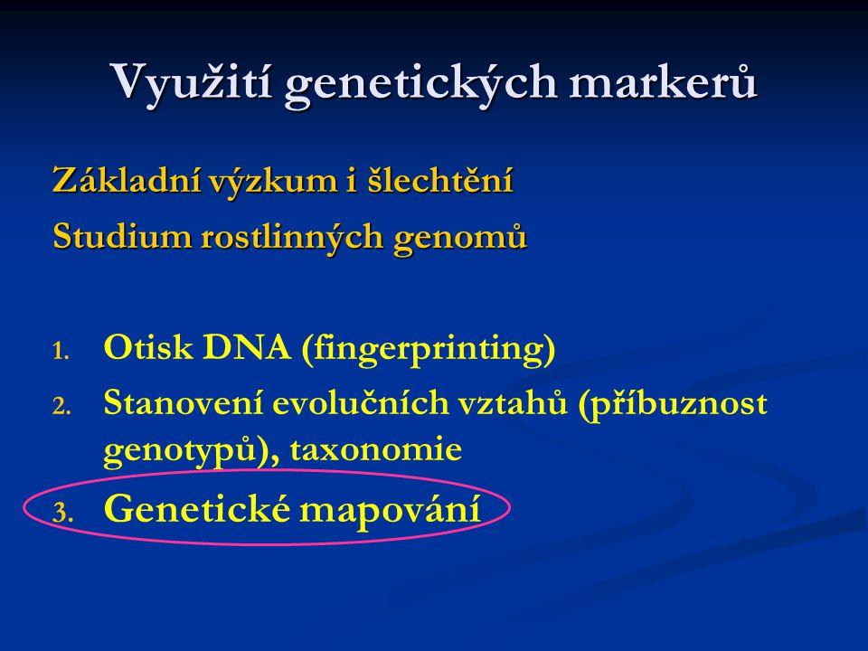 Využití genetických markerů