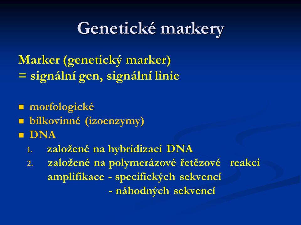Genetické markery Marker (genetický marker)