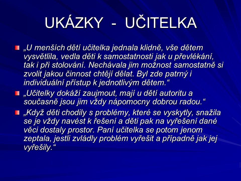 UKÁZKY - UČITELKA