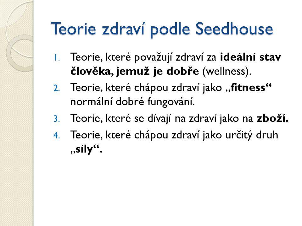 Teorie zdraví podle Seedhouse