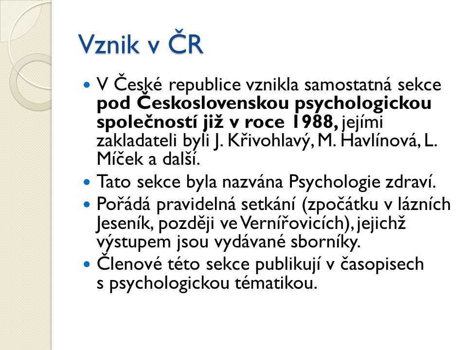 Vznik v ČR