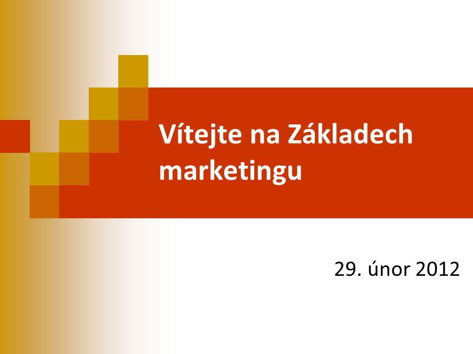 Vítejte na Základech marketingu