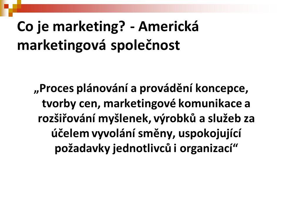 Co je marketing - Americká marketingová společnost