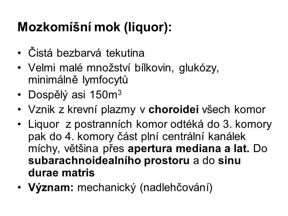 Mozkomíšní mok (liquor):