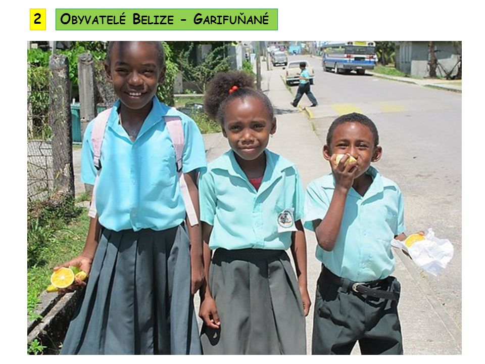 2 Obyvatelé Belize - Garifuňané