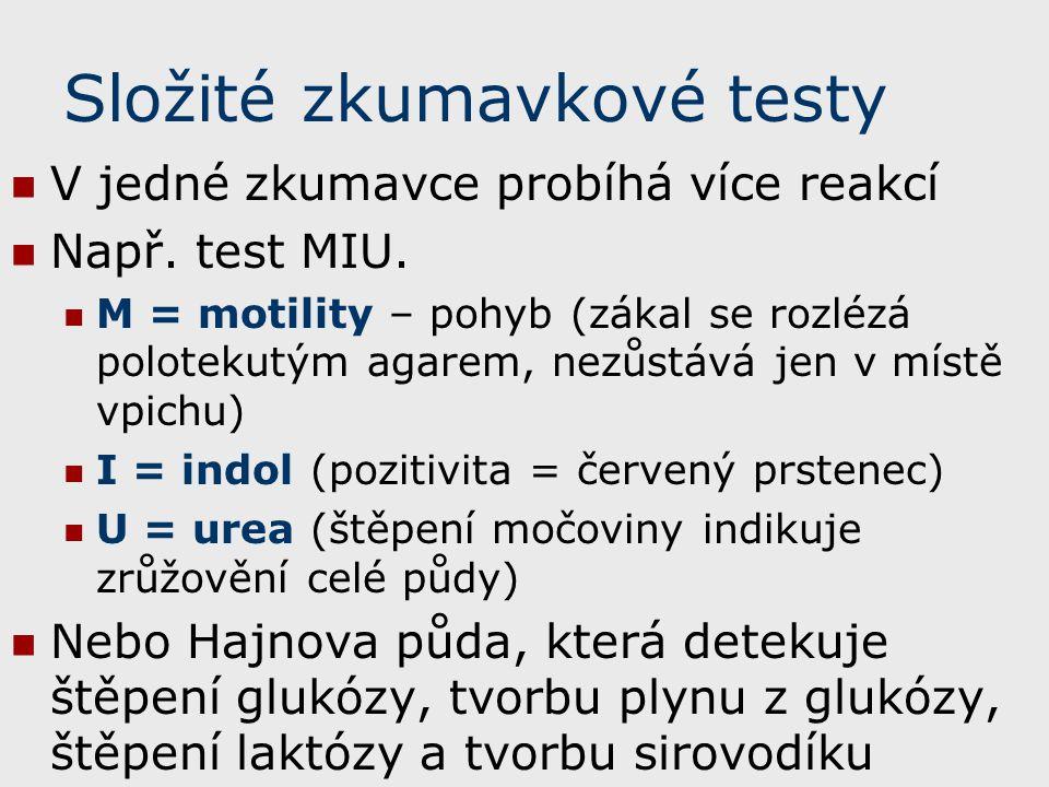 Složité zkumavkové testy