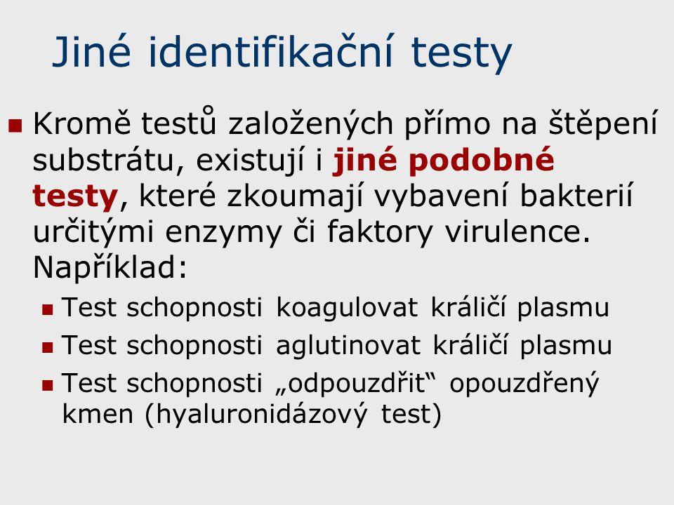 Jiné identifikační testy